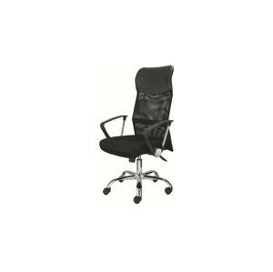 Sconto Otočná stolička DIRECT čierna/chróm