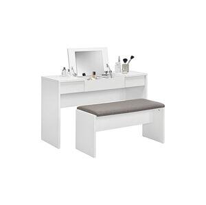 Sconto Toaletný stolík s lavicou LIPSTICK