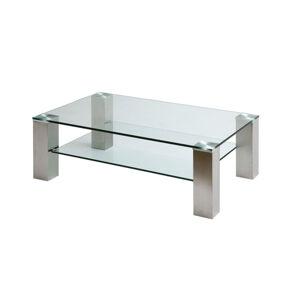 Sconto Konferenčný stolík AIDAN II oceľ/sklo