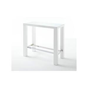 Sconto Barový stôl GERARD 2 biela/sklo
