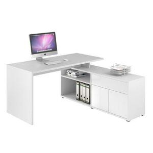 Sconto Rohový písací stôl ARLO biela