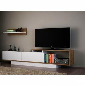 Sconto TV stena ASOS orech/biela