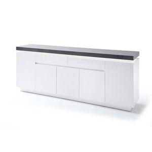 Sconto Komoda ATREJU biela/betón, šírka 200 cm