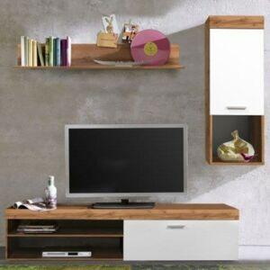 Sconto Obývacia stena BOOM dub wotan/biela