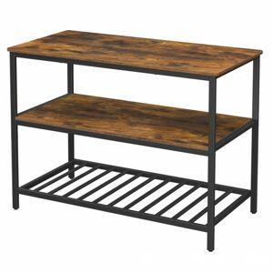 Sconto Odkladací stolík BORLA čierna/hnedá