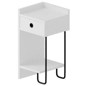 Sconto Nočný stolík CACTUS biela, pravé vyhotovenie
