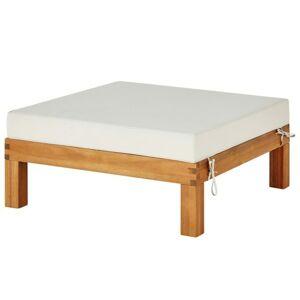 Sconto Záhradný taburet CAPE akácia/béžová