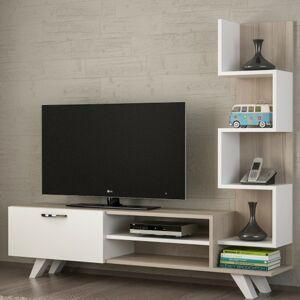 Sconto TV stolík CEREN dub/biela