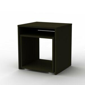 Sconto Prístavný stolík DUO sada 2 ks, čierna