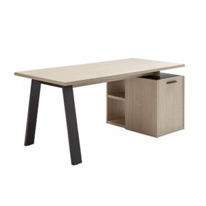 Sconto Pracovný stôl ENNIO dub elegance/antracit, s kontajnerom