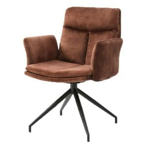 Sconto Jedálenská stolička ERIC hrdza/čierna