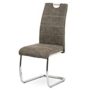 Sconto Jedálenská stolička GRAMA hnedá/kov