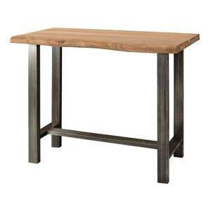 Sconto Barový stôl GURU akácia/kov