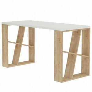 Sconto Písací stôl HONEY biela/dub