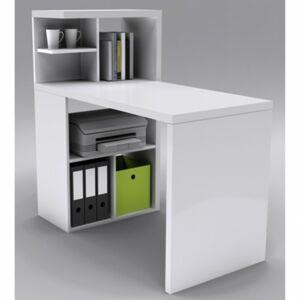 Sconto Písací stôl s regálom ISAAC biela
