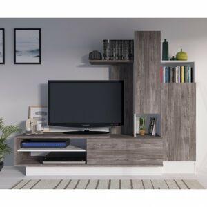 Sconto Obývacia stena ISABELLE sivá/biela