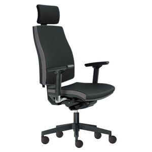 Sconto Kancelárska stolička JOHN čierna/sivá