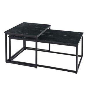 Sconto Konferenčný stolík KENO čierna/mramor