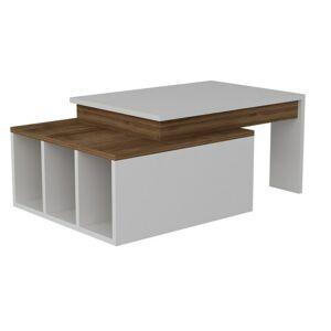Sconto Konferenčný stolík KOLARADO biela/orech