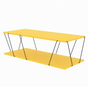 Sconto Konferenčný stolík LABRANDA žltá/čierna