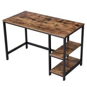 Sconto Písací stôl LWD47X čierna/hnedá