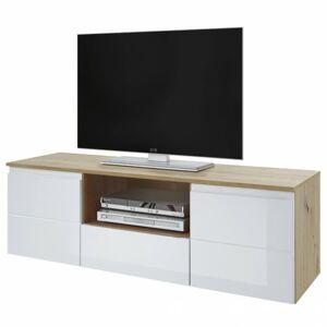 Sconto TV stolík MEZO 160 dub artisan/biela