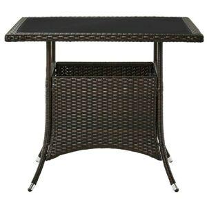 Sconto Záhradný stôl MODENA 3 hnedá/čierna