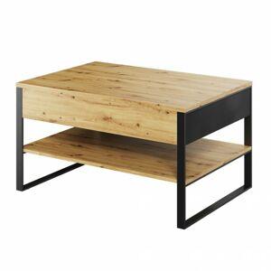 Sconto Konferenčný stolík MONO dub evoke/čierna