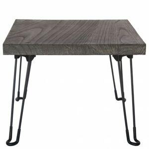 Sconto Prístavný stolík NABRO 2 paulovnia/sivá