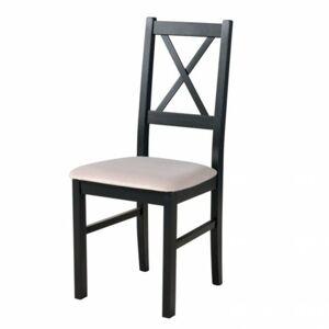 Sconto Jedálenská stolička NILA 10 čierna/béžová