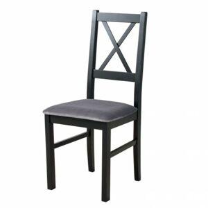 Sconto Jedálenská stolička NILA 10 sivá/čierna