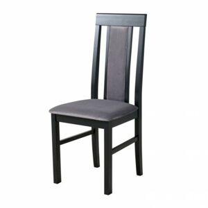 Sconto Jedálenská stolička NILA 2 sivá/čierna