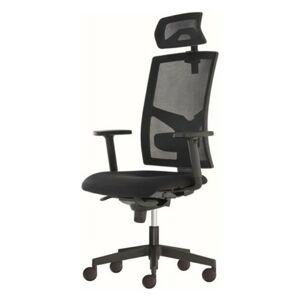 Sconto Kancelárska stolička PAIGE čierna