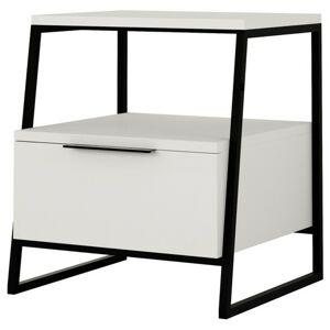 Sconto Nočný stolík PAL biela