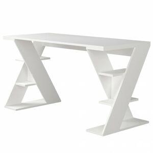 Sconto Pracovný stôl PAPILON biela
