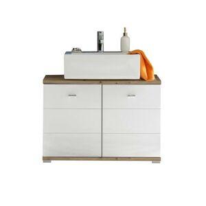 Sconto Umývadlová skrinka POOL, 80 cm dub artisan/biela