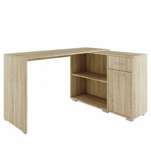 Sconto Rohový písací stôl QUICK 2 dub sonoma
