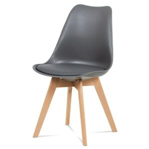 Sconto Jedálenská stolička SABRINA sivá/buk