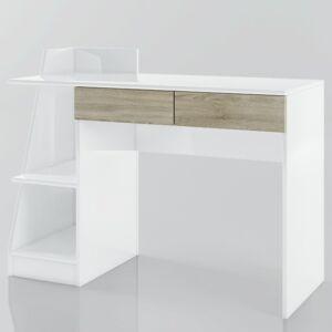 Sconto Písací stôl SMART biela/dub sonoma