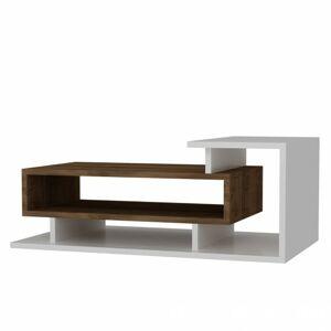 Sconto Konferenčný stolík SPRING biela/orech