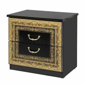 Sconto Nočný stolík WILLOW čierna/zlatá