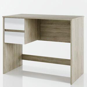 Sconto Písací stôl WONDER dub sonoma/biela