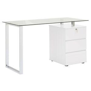 Sconto Písací stôl XINGU kov/biela